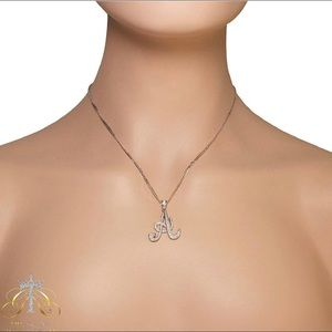 Jewelry - Cursive Initial Necklace